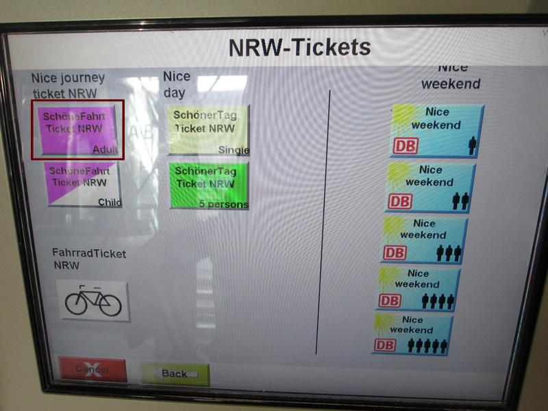 Schoner-tag-ticket single nrw automaten
